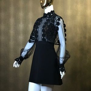 Self-Portrait black dress